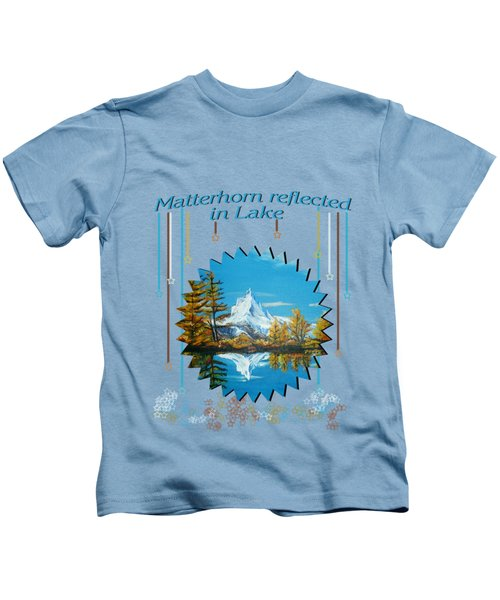 Mountain Matterhorn Lake View  Kids T-Shirt