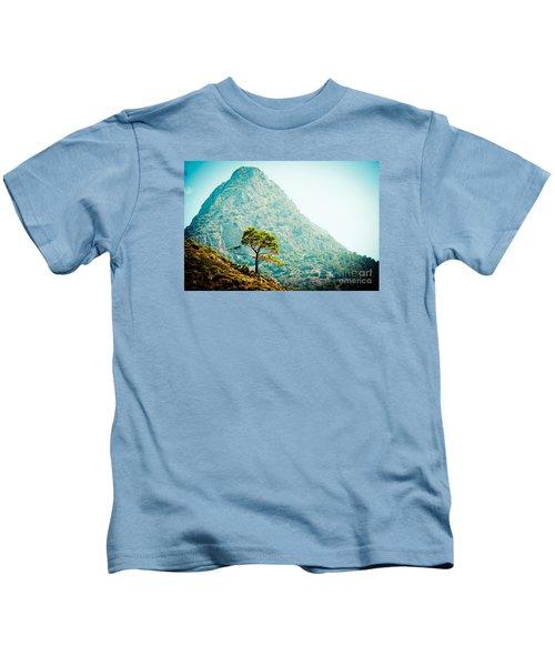 Mountain With Pine Artmif.lv Kids T-Shirt