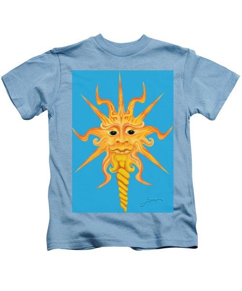 Mr. Sunface Kids T-Shirt