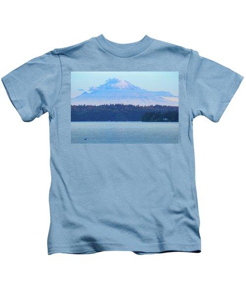 Mt. Rainier From Manchester Kids T-Shirt