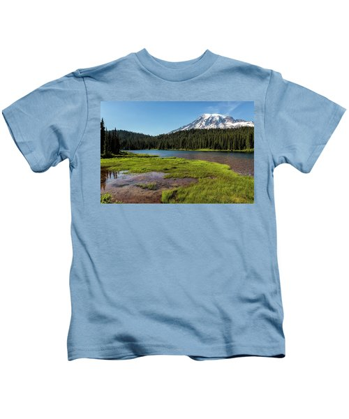 Mt Rainier From Reflection Lake, No. 2 Kids T-Shirt