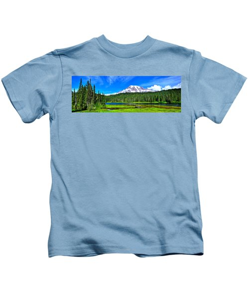 Mt. Rainier From Reflection Lakes Kids T-Shirt