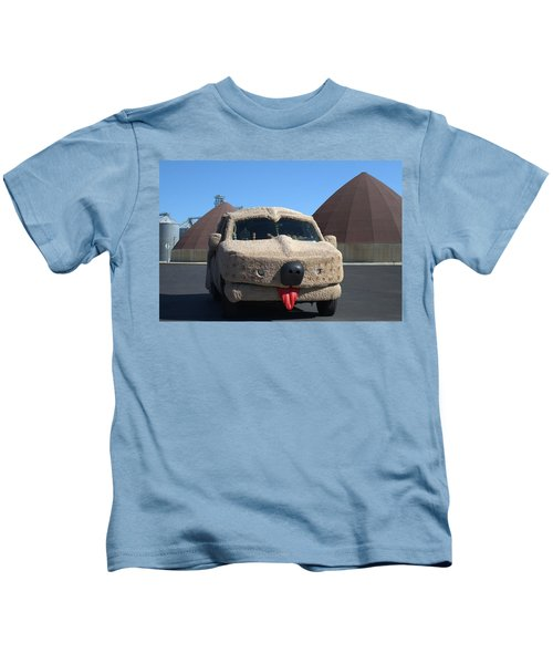Mutt Cutts Dumb And Dummer Replica Vehicle Kids T-Shirt