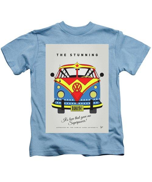 My Superhero-vw-t1-supermanmy Superhero-vw-t1-wonder Woman Kids T-Shirt
