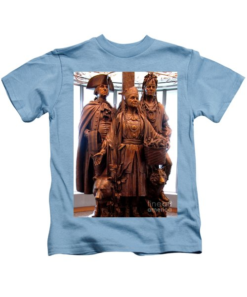 National Museum Of The American Indian 8 Kids T-Shirt by Randall Weidner
