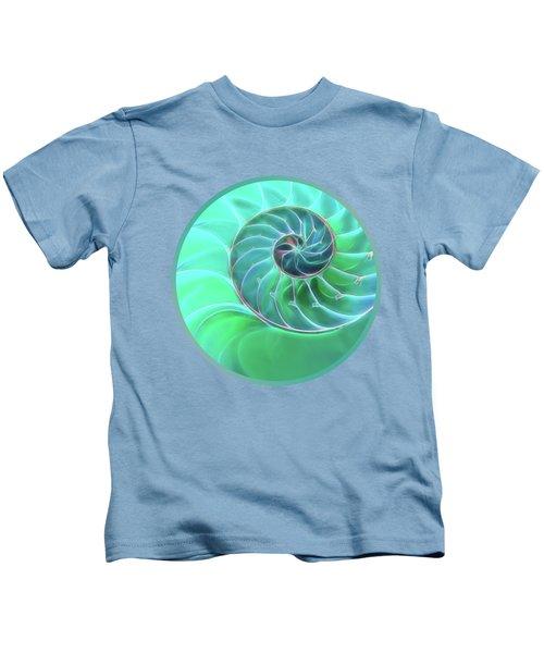 Nautilus Aqua Spiral Kids T-Shirt