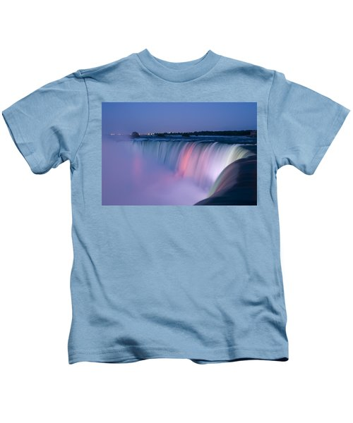 Niagara Falls At Dusk Kids T-Shirt