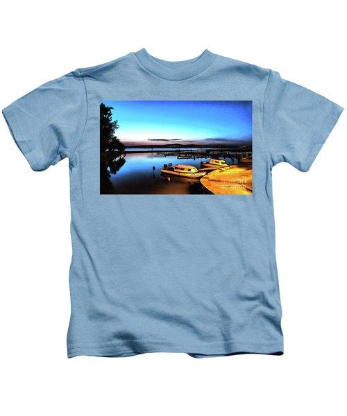 Night Port Painting Kids T-Shirt