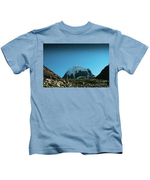 Night Sky Holy Kailas Himalayas Tibet Yantra.lv Kids T-Shirt