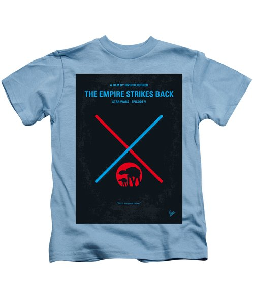 No155 My Star Wars Episode V The Empire Strikes Back Minimal Movie Poster Kids T-Shirt