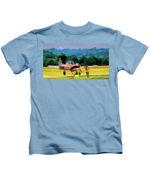 North American T-28 Trojan V5 Kids T-Shirt