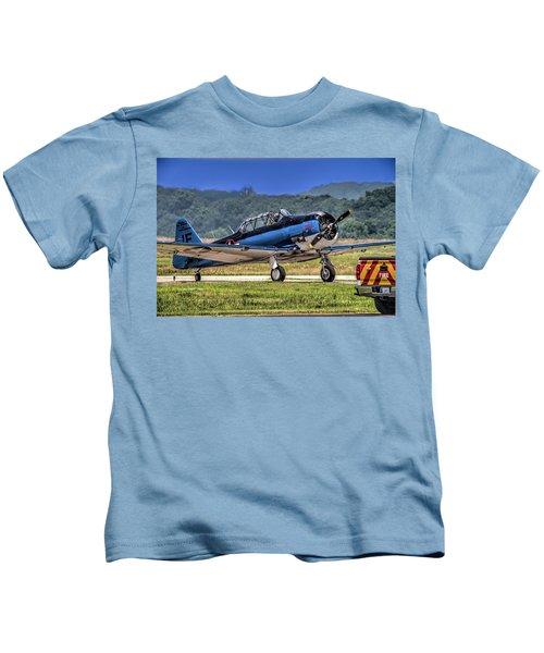 North American T-6 Texan  V6 Kids T-Shirt