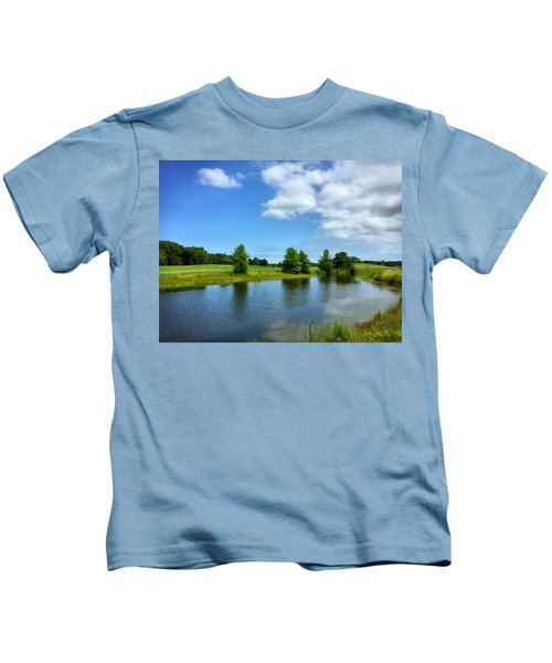 Kids T-Shirt featuring the photograph Ocean View by Chris Montcalmo