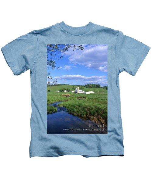3d203 Ohio Farm Photo Kids T-Shirt