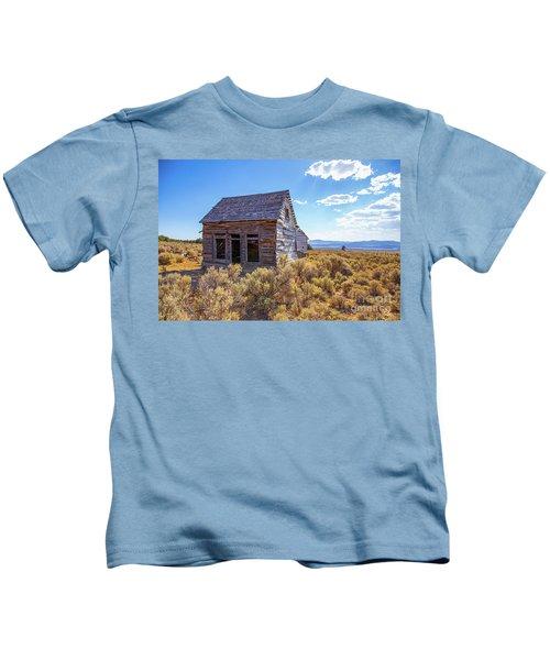 Old Farm House Widtsoe Utah Ghost Town Kids T-Shirt