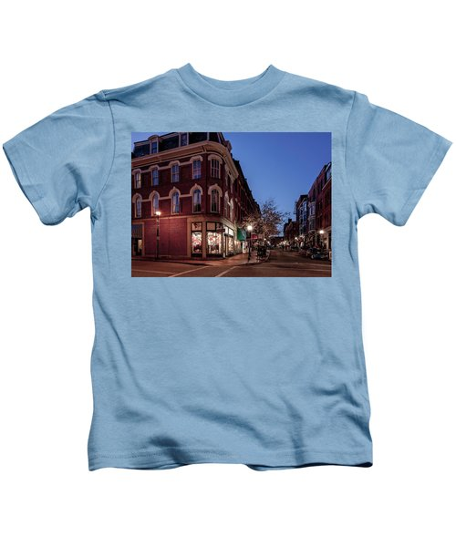 Old Port, Portland Maine Kids T-Shirt