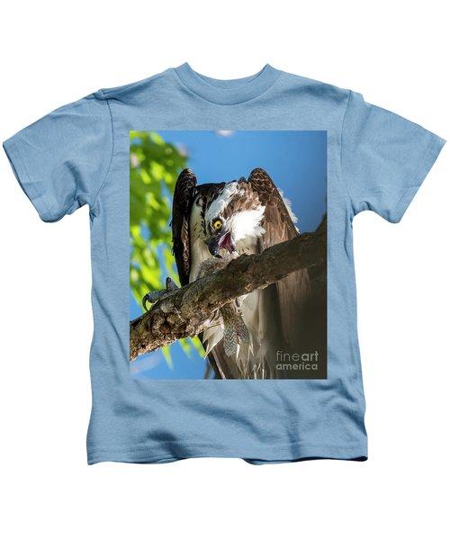 Osprey With Prey Kids T-Shirt
