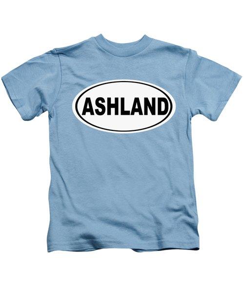 Oval Ashland Oregon Or Ohio Home Pride Kids T-Shirt