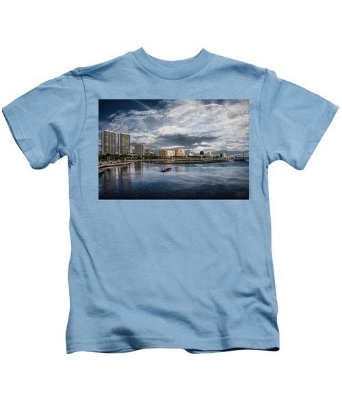 Overlooking West Palm Beach Kids T-Shirt