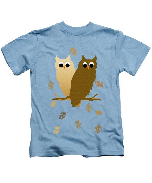 Owls Pattern Art Kids T-Shirt by Christina Rollo