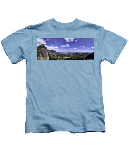 Pali Lookout Panorama Kids T-Shirt