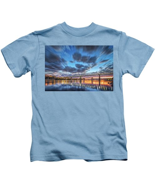 Passing Clouds Above Chattanooga Kids T-Shirt