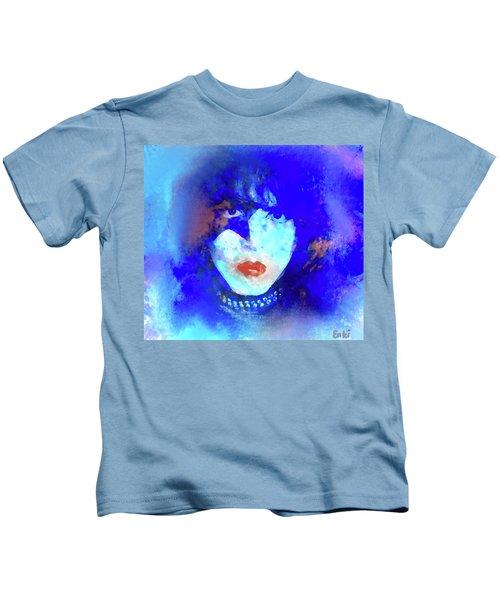 Paul Stanley Of Kiss - Portrait Kids T-Shirt