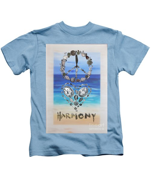 Peace Love Harmony Kids T-Shirt