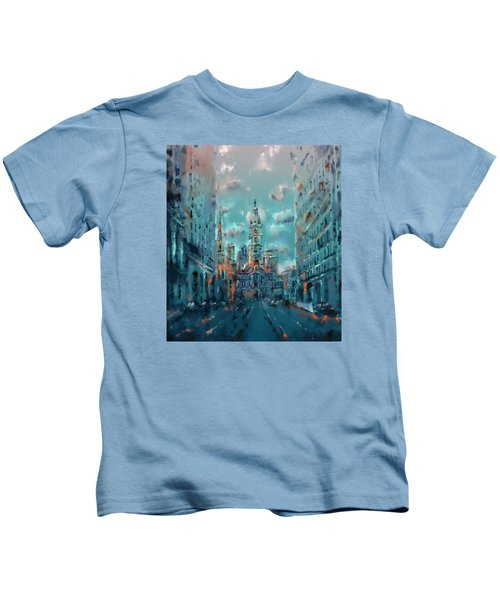 Philadelphia Street Kids T-Shirt by Bekim Art