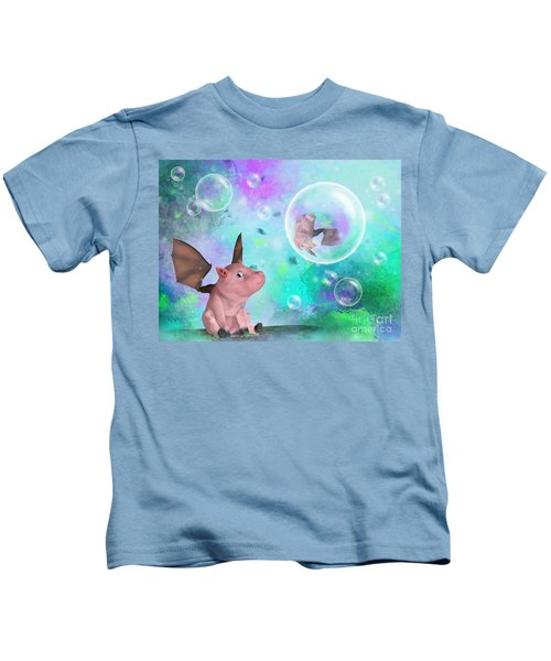 Pig In A Bubble Kids T-Shirt