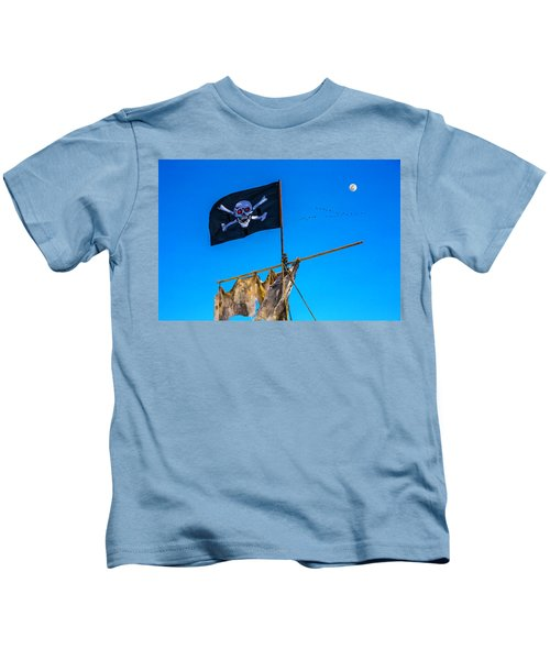 Pirate Flag And Moon Kids T-Shirt
