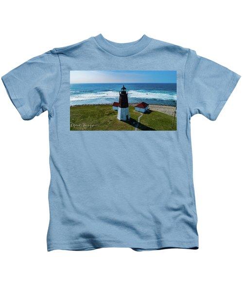 Point Judith Lighthouse Kids T-Shirt