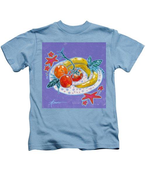 Polka-dot Plate  Kids T-Shirt