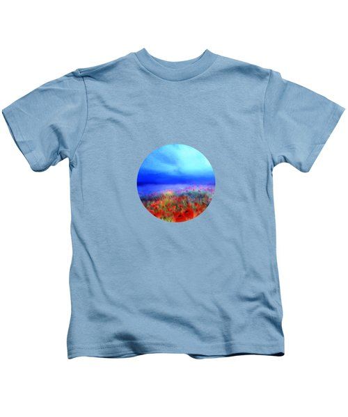 Poppies In The Mist Kids T-Shirt