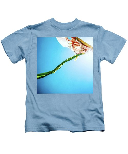 Prayer Flags Blowing In The Wind Kids T-Shirt