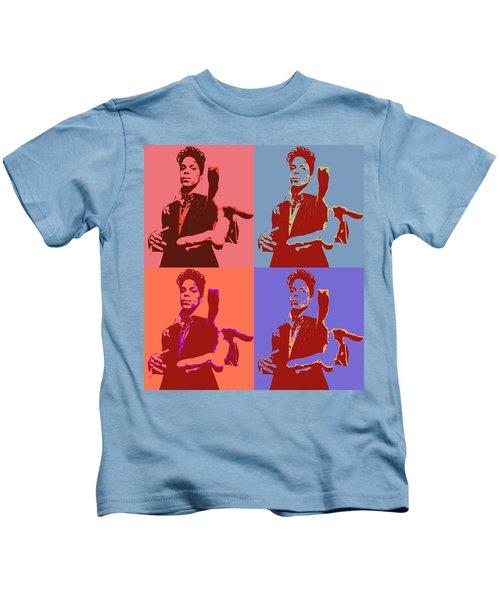 Prince Pop Art Panels Kids T-Shirt