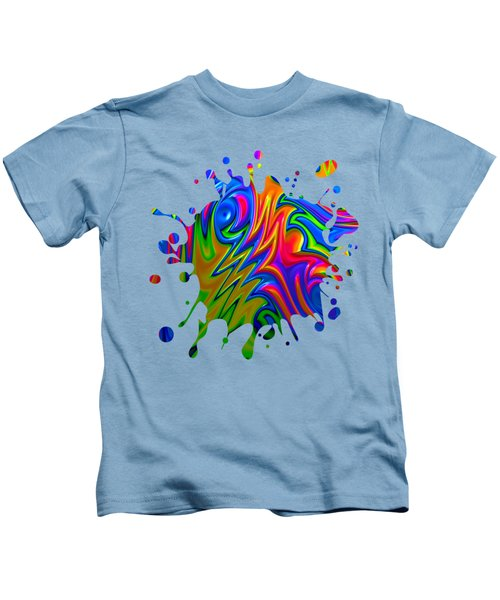 Psychedelic Rainbow Fractal Kids T-Shirt
