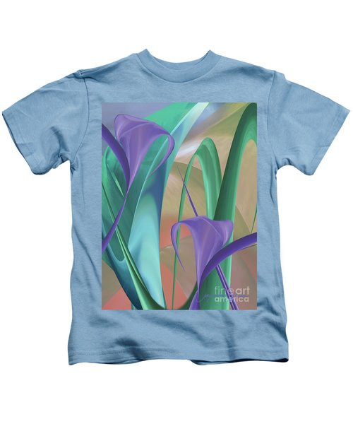 Purple Calla Lilies Kids T-Shirt
