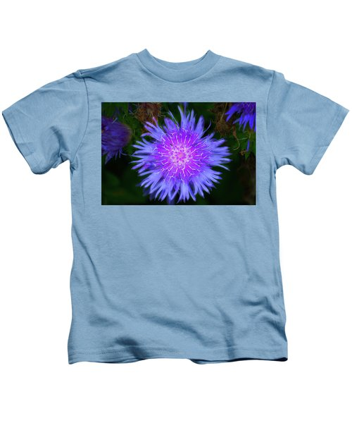 Purple Flower From Mars Kids T-Shirt
