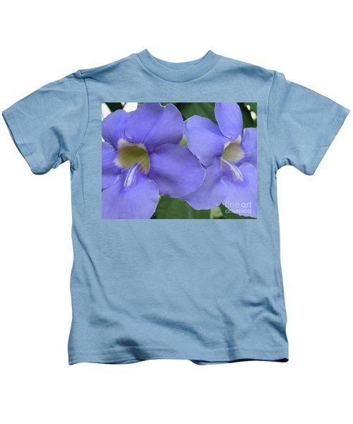 Purple Flower Picture Perfect Kids T-Shirt
