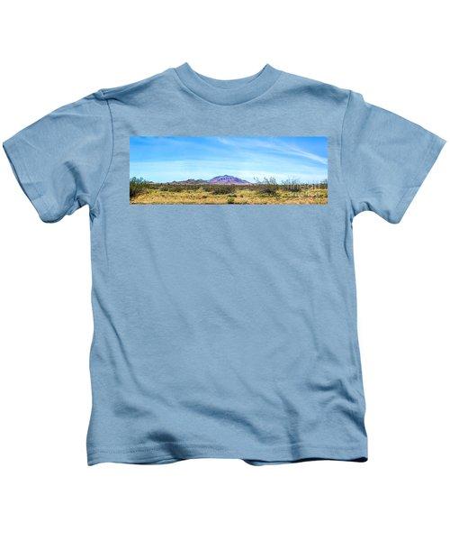 Purple Mountain Panoramic Kids T-Shirt