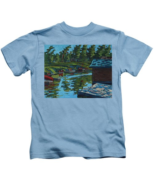 Quiet Morning At Chaffeys Kids T-Shirt