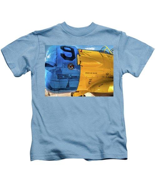 R C A F North American T-6 Texan  V3 Kids T-Shirt