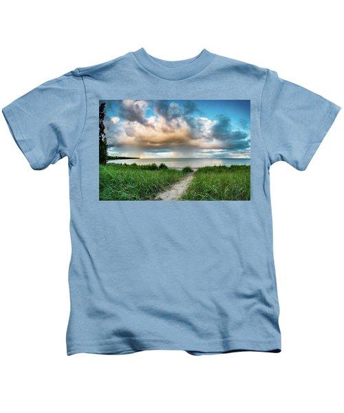 Rainbow Sunset Kids T-Shirt
