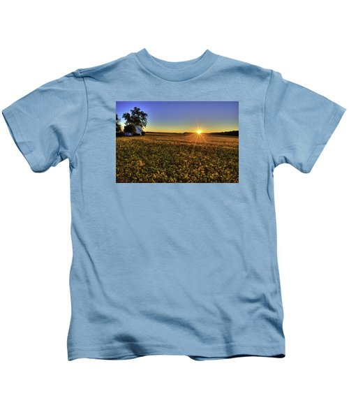 Rays Over The Field Kids T-Shirt