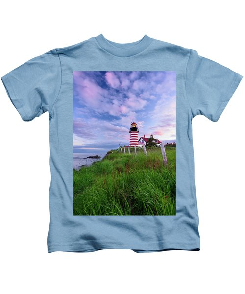 Red, White And Blue - Vertical Kids T-Shirt