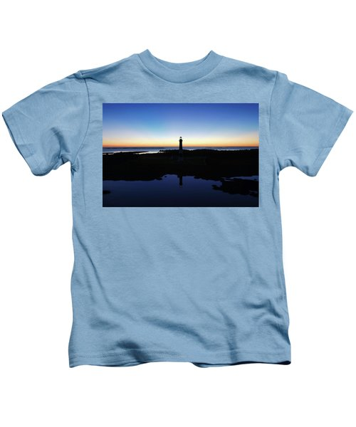 Reflection Of Bodie Light At Sunset Kids T-Shirt