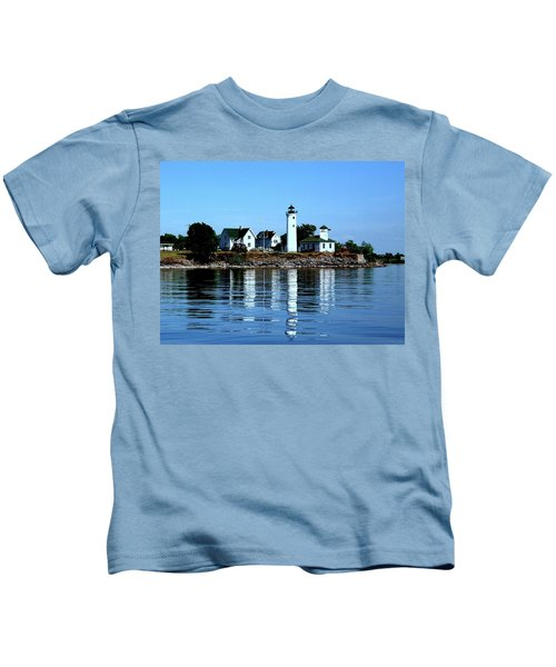 Reflections At Tibbetts Point Lighthouse Kids T-Shirt