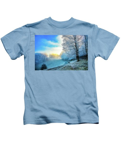 Rime Ice Sunrise Kids T-Shirt