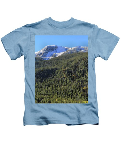 Rocky Mountain Evergreen Landscape Kids T-Shirt